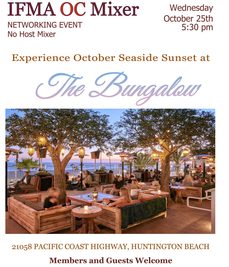 IFMA OC Mixer at The Bungalow @ The Bungalow at Pacific City | Huntington Beach | California | United States